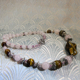 rose quartz necklace handmade jewellery