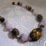 rose quartz jewellery necklace