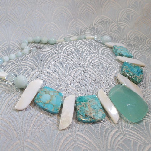 jasper jewellery necklace, semi-precious stone necklace, handcrafted jewellery