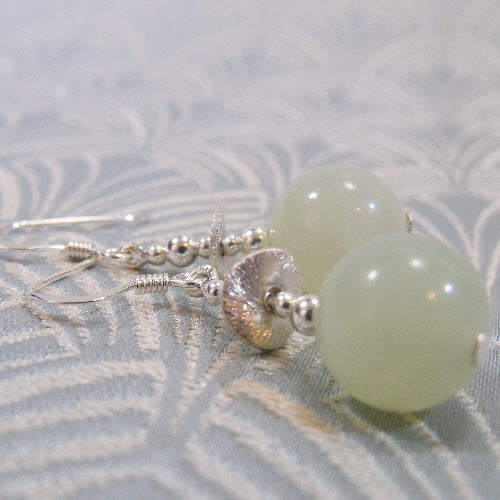 jade earring jewellery handmade, semi-precious stone earrings jade