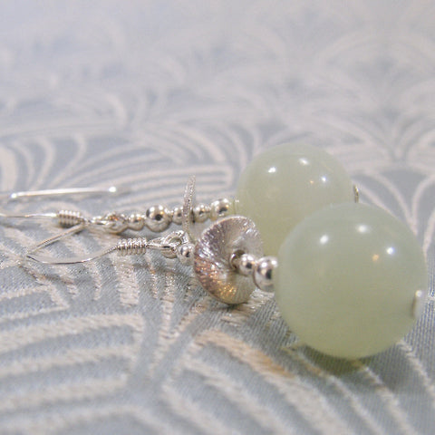 Semi-Precious Stone Earrings Handmade UK, Jade Earrings