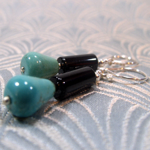 Turquoise Handmade Earrings, Semi-Precious Stone Earrings UK
