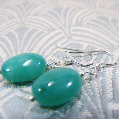 short semi-precious stone earrings, handcrafted jewellery, gemstone earrings