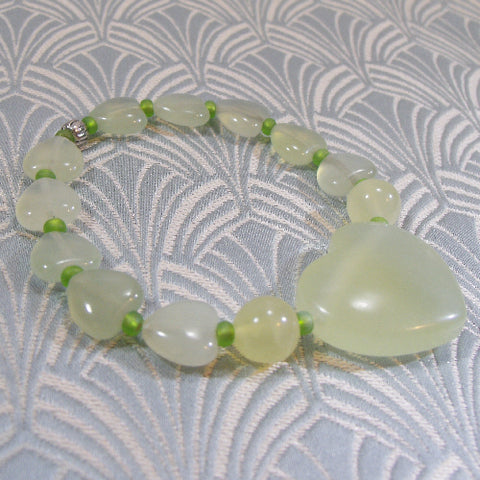 Jade Stretch Bracelet, Jade Gemstone Bracelet Jewellery