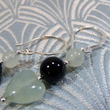 handmade jade earrings with sterling silver