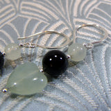 jade drop gemstone earrings uk
