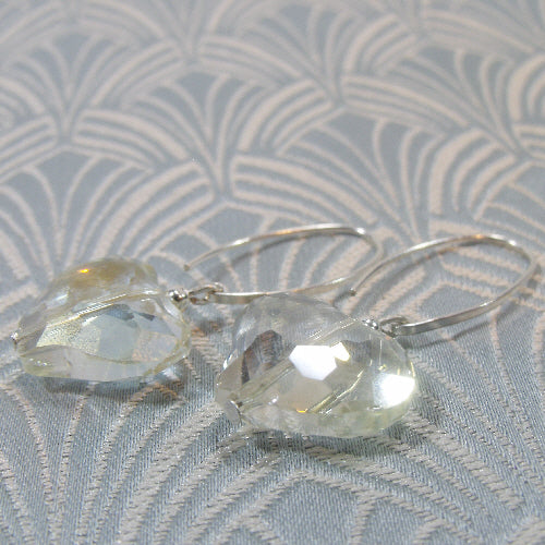crystal drop earrings, unique handcrafted jewellery