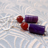 handmade agate earrings