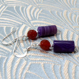 semi-precious stone earrings handmade agate