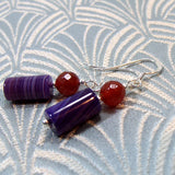 unique handmade gemstone earrings uk
