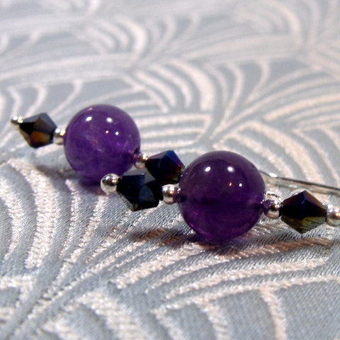 Amethyst Earring Jewellery UK, Unique Semi-Precious Stone Earrings