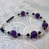 unique handcrafted amethyst bracelet