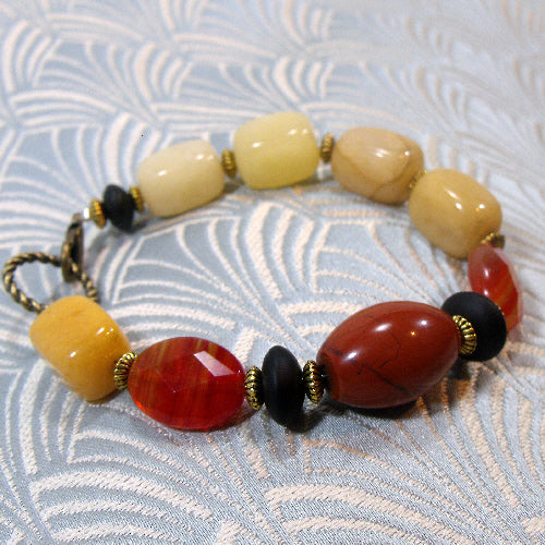 unique gemstone bracelet, handcrafted semi-precious stone jewellery