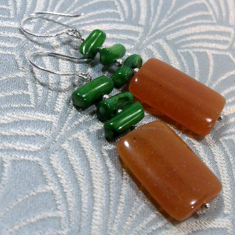 Semi-precious Gemstone Earrings, Unique Gemstone Jewellery