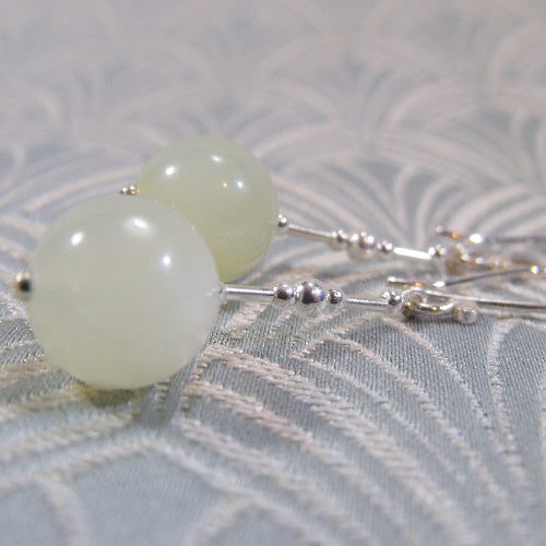 jade earrings handmade uk, semi-precious stone jewellery jade