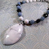 semi-precious stone necklace handmade uk