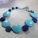 unique semi-precious turquoise necklace jewellery