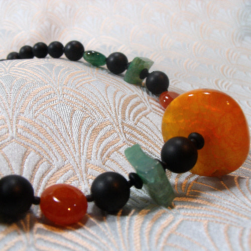 semi-precious gemstone necklace uk, handmade semi-precious jewellery