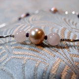 pearls and rose quartz