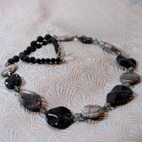 black grey jasper necklace