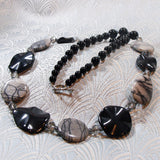 grey black necklace jewellery gemstone