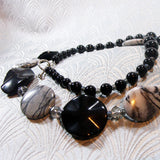grey black unique necklace