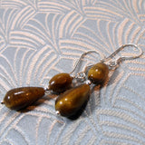 unique tigers eye earrings handmade uk