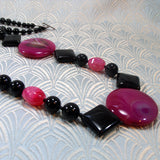 long gemstone statement necklace
