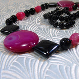 semi-precious gemstone statement necklace