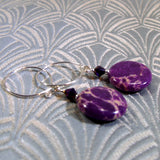 purple jasper earrings
