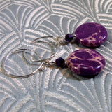 unique purple jasper gemstone earrings