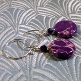 unique purple gemstone earrings uk