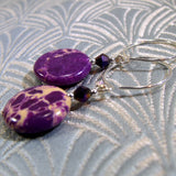 purple jasper handmade earrings