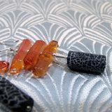 black orange earring design
