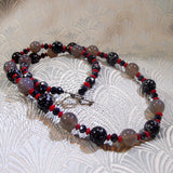 snowflake obsidian necklace in the sale