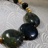 dark green jasper necklace