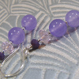 lilac semi-precious stone earrings