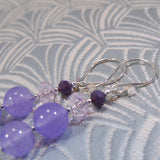 lilac earrings in the sale