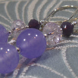 lilac handmade earrings