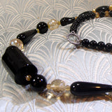 black onyx crystal necklace, handcrafted jewellery sale uk, online jewellery sale