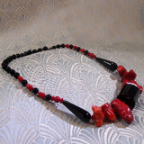 red black necklace
