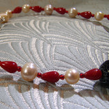 coral beads and pearls