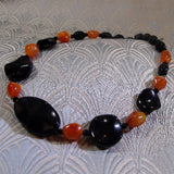 black orange necklace
