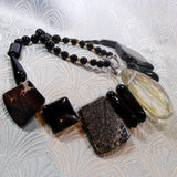 gemstone necklace with a statement