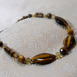 handmade tigers eye semi-precious necklace