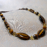 tigers eye gemstone necklace uk