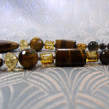 semi-precious tigers eye gemstone beads