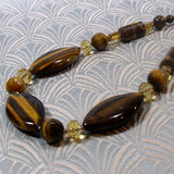 unique necklace handmade tigers eye