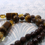 semi-precious tigers eye round beads