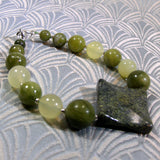 jade bracelet with mixed jade beads